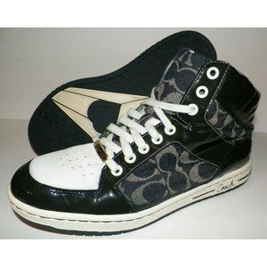 Womens 9.5 Coach Norra High Top Sneakers Shoes